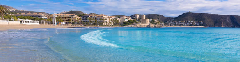 Beaches in Moraira Spain