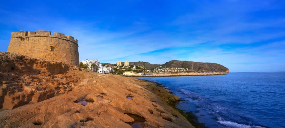 The shoreline of Moraira